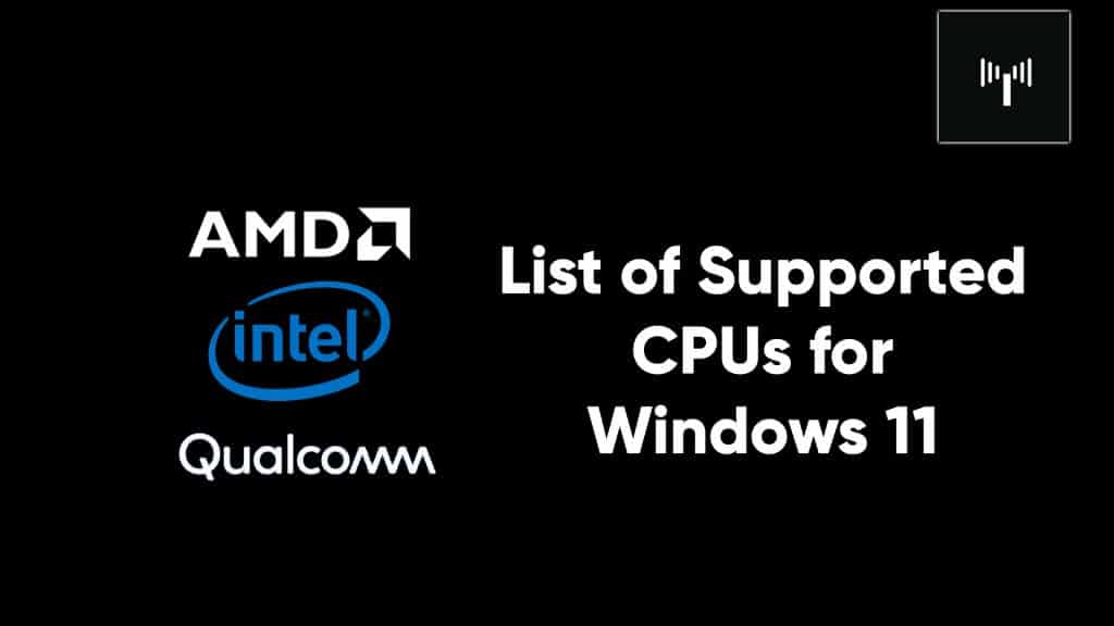 list of cpu