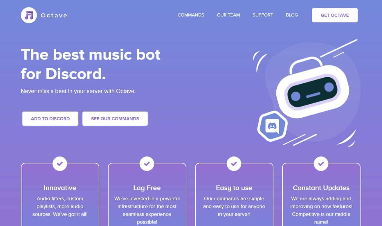 octave top discord music bots