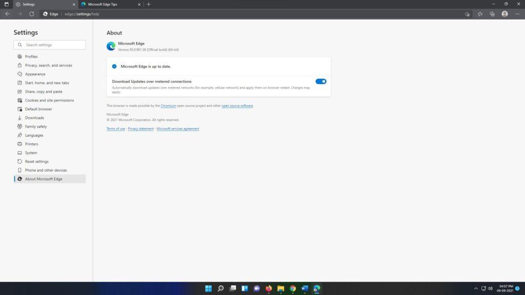 Microsoft Edge 93