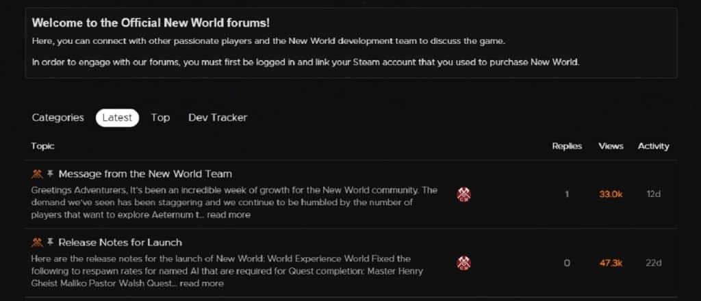 new world server status